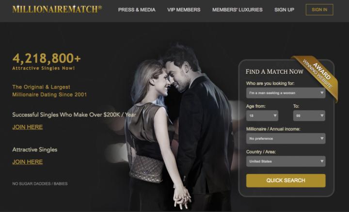 MillionaireMatch site